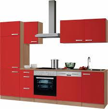 optifit küchenzeile odense set mit e geräten breite 270 cm mit 28 mm starker arbeitsplatte mit gratis besteckeinsatz