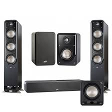 Audio S60 Tower Speaker w S15 Bookshelf Speakers Pair w S35