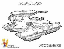 Halo Reach Printable Scorpion Tank At YesColoring Banshee Aircraft Coloring Picture