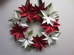 Paper Flower Christmas Wreath Craft Decoration