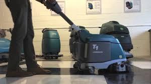 tennant t1 b micro floor scrubber youtube