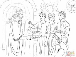 Daniel Chapter 1 Bible Coloring PagesColoring