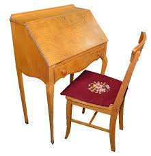 Birdseye Maple Vanity Dresser by Birdseye Maple Veneer Writing Desk And Chair Ebth