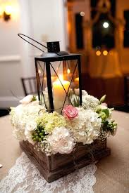 Wedding Table Lantern Centerpieces Reception Arrangement For Guest Tables With Hydrangeas Spray Roses And