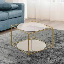 50x50 design beistelltisch in grau glas julyta