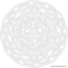 Shamrock Mandala Picture To Color Star Coloring Pages Pattern