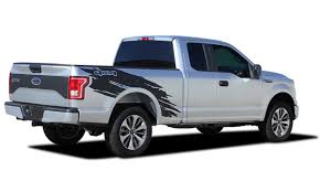 100 Truck Decals And Graphics TORN Ford F150 Side Bed 4X4 Mudslinger Ripped Style