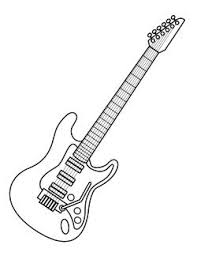 Majestic Design Guitar Coloring Page Free Pages On Art