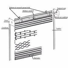 rideau metallique grille metallique plein nao