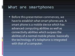 Smartphones and their contribution to society