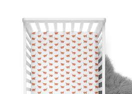 Coral And Mint Crib Bedding by Fitted Crib Sheet Orange Fox Orange Crib Sheet Fox Crib