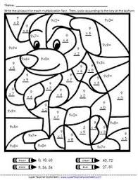 Math Coloring Worksheets For Grade