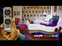 The Purple™ PowerBase A Massaging Adjustable Bed Purple