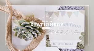 Blue Bunting Farm Chic Chrystalace Wedding Stationery Realistic Rustic