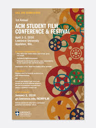 Poster Design For The ACM Student Film Festival Hosted By Lawrence University