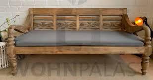 lounge bank gartenbank mit auflage teak bank gartenmöbel 200cm
