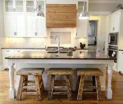 Elegant Rustic Industrial Kitchen Features White Cabinets And Rectangle Shape Island SMLFIMAGE SOURCE