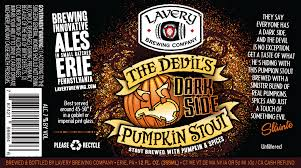 Imperial Pumpkin Ale by Lavery Brewing Company Erie Pa Our Beers