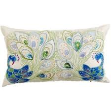 Pier e Mirrored Peacock Pillow Pier 1 Imports Polyvore