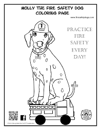 Astounding Fire Safety Dog Coloring Pages With