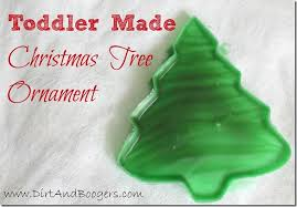 Christmas Tree Ornament Toddler Craft