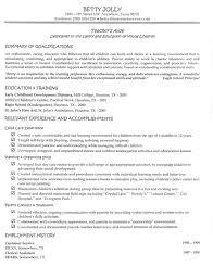 resume description of preschool early childhood educator resumes amitdhull co