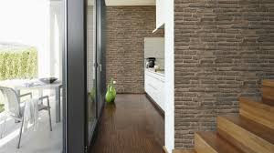 vlies tapete stein wand ziegelstein backstein klinker optik braun grau 30747 2