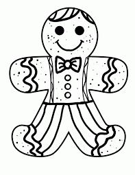 Preschoolers Gingerbread Man Colouring Page Essay