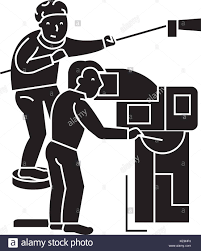 Television News Crew Stock Vector Images