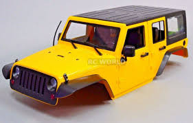 100 Rc Truck Bodys RC Scale Body Shell 110 JEEP WRANGLER RUBIC In Mainan