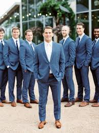 An Ethereal Ceremony Under A Flower Adorned Pecan Tree Navy GroomsmenGroomsmen OutfitsWedding StylesWedding ColorsSpring