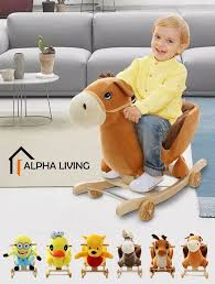 100 Cowboy In Rocking Chair Horse 2 In 1 Baby Kids Ride On Animal Musical