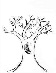 Tree With Branches Coloring Page