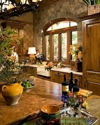 Stonework And Tile In The Kitchen Give It A Tuscan Look Thats