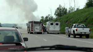 100 Virginia Truck And Trailer West Catches Fire While Pulling Horse YouTube
