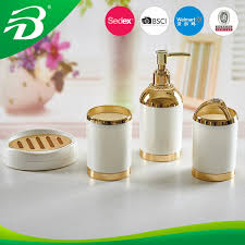 fashion copper plastic bathroom accessory golden plastic walmart