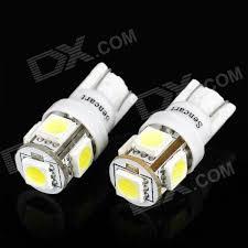 buy t10 1 2w 6500k 70 lumen 5 smd led car white light bulbs pair