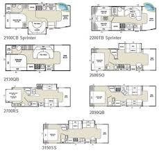 C Floor Plans by Class C Motorhome Floor Plans Meze