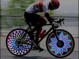 Colorful Rainbow Wheel Signal Lights LED bike wheel light LED Bike