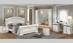 details zu schlafzimmer komplett set weiß hochglanz mäander muster italienische stil möbel