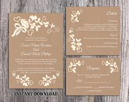 DIY Lace Wedding Invitation Template Set Editable Word File Download Printable Rustic Burlap Vintage Floral