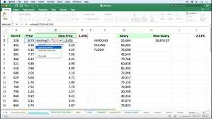 Excel Floor Ceiling Functions by Change Displayed Result With Mround Ceiling And Floor