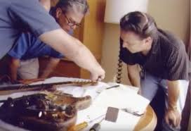 Jimmie Vaughan Inspecting His Younger Brother Stevie Rays Number One