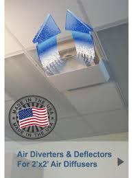 Ceiling Heat Vent Deflector by Air Deflectors U0026 Diverters Ceiling Air Vent Deflectors