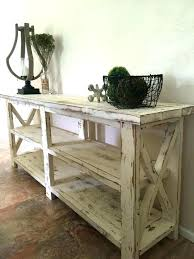 Farmhouse Sofa Table And Rustic Console Entryway Foyer X