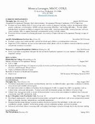 Pediatric Cota Resume Sample Greatest Special Care