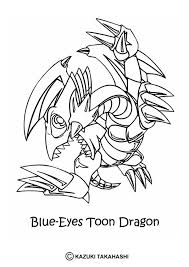 Toon Summoned Skull Blue Eyes Dragon Coloring Page