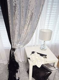 Indie Room Decor Ebay by Silver Sequins Beaded Curtain Drapery Panel Room Divider Handmade