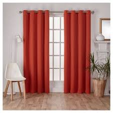 Target Blackout Curtains Smell by Orange Blackout Curtains Target