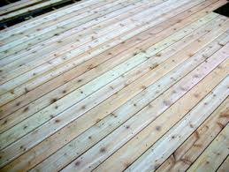 Wood Decking Boards by Installed Cedar Decking Boards New Prairie Construction